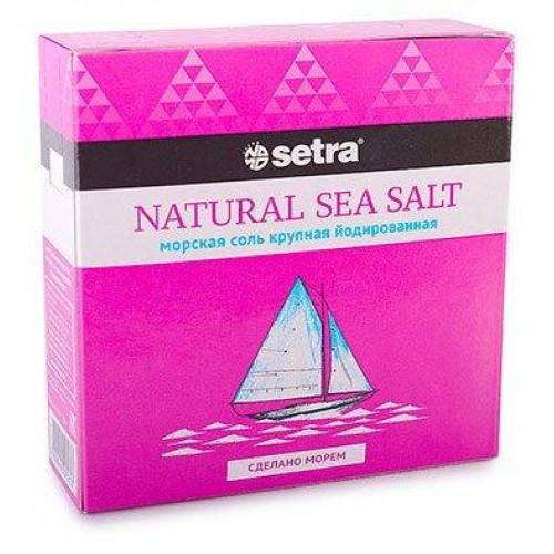 Соль морская Setra крупная йодированная, 500 г