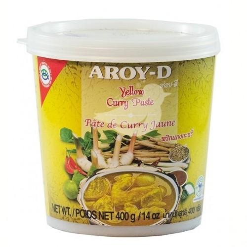 Паста-соус Карри желтая Aroy-D, 400 г