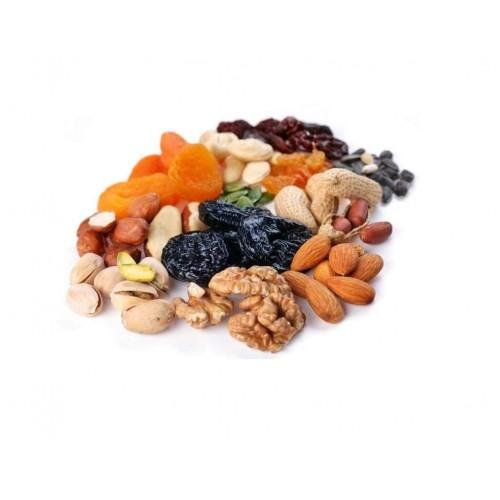 Кунжутное семя, орехи, сухофрукты