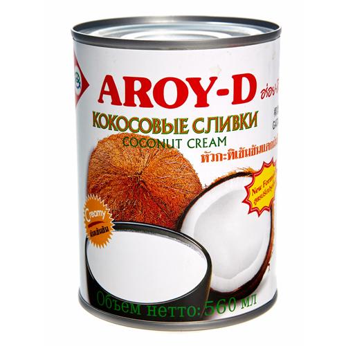 Кокосовые сливки Aroy-D 20-22%, 560 мл