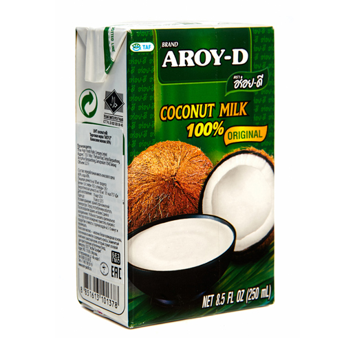 Кокосовое молоко Aroy-D 17-19%, 250 мл