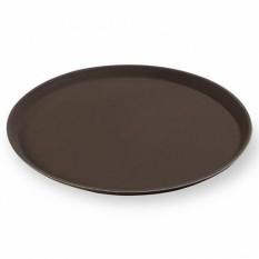 """Разнос  Д=35,5 см прорезиненный YIZHOU """"GASTRORAG"""", коричневый"""
