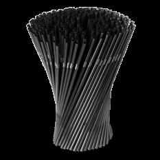 Трубочки 1000 шт, чёрные со сгибом , 0.5cm x 21cm