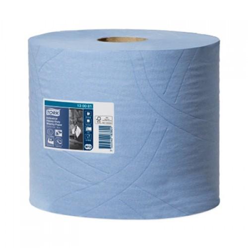 Бумага базовая протирочная суперпрочная в рулонах Tork 3 слоя W1/W2 синяя, 119 м