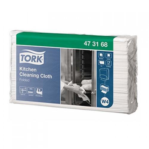 Нетканый материал Tork для кухни W4 листовой, 80 шт/упак