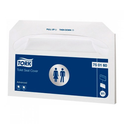 Покрытия на унитаз индивидуальные бумажные Tork одноразовые, 250 шт/упак