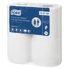 Бумага туалетная Tork в стандартных рулонах 2 слоя, 4 рул/упак