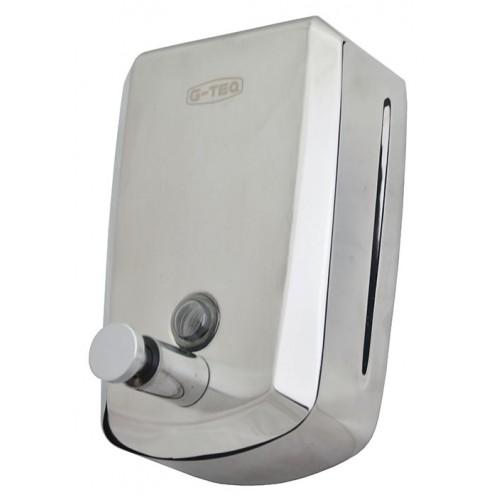 Дозатор для жидкого мыла металлический хромированный G-TEQ 8610 Lux наливной, 1 л