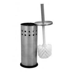Ершик туалетный напольный металлический хромированный с перфорацией G-TEQ