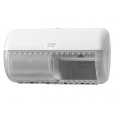 Диспенсер Tork туалетной бумаги на два стандартных рулона, белый
