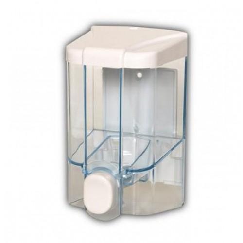 Диспенсер жидкого мыла прозрачный пластиковый наливной Vialli S1, 500 мл