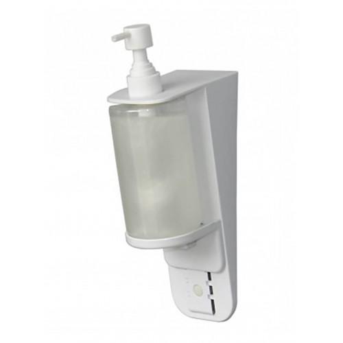 Диспенсер жидкого мыла, шампуня белый пластиковый наливной Vialli S7, 300 мл