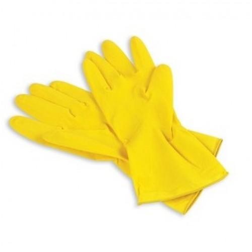 Перчатки резиновые с хлопковым напылением Anna Zadorna размер S, M, L, 1 пара