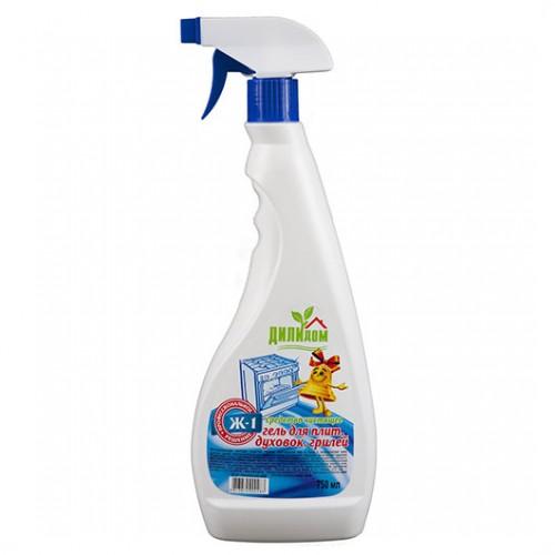 Средство чистящее Ж-1 для плит, духовок, грилей с триггером Цитрусовые листья Дили Дом, 750 мл
