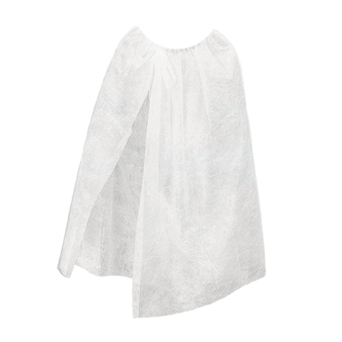 Халат накидка одноразовая на завязке Дили Дом белый, 10 шт