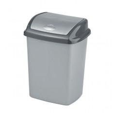 Ведро для мусора 25 литров с плавающей крышкой Дили Дом серое