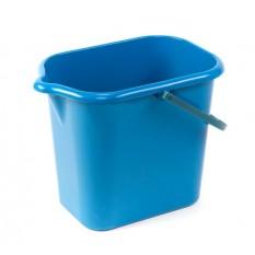 Ведро 16 литров прямоугольное с носиком Дили Дом голубое
