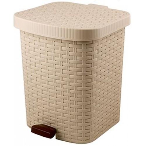 Контейнер для мусора педальный Артлайн, 12 л